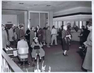 Banking hall at 44 Exchange. 1959.