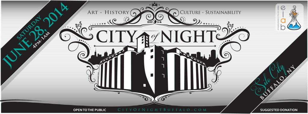 2014 City of Night event banner designed by Jon Furman