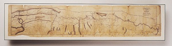 Long Erie Canal Map, 1825 1