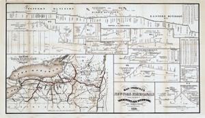 Short Erie Canal Map, 1825 1