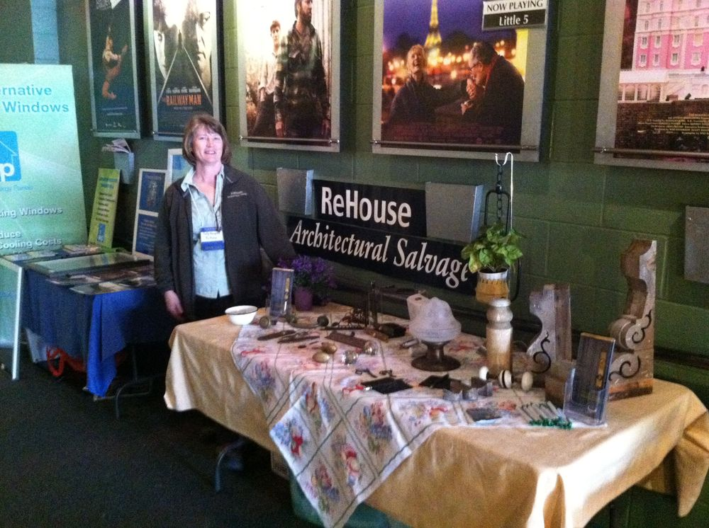 Our friends from ReHouse, one of the many vendor tables set up at The Little Theatre.