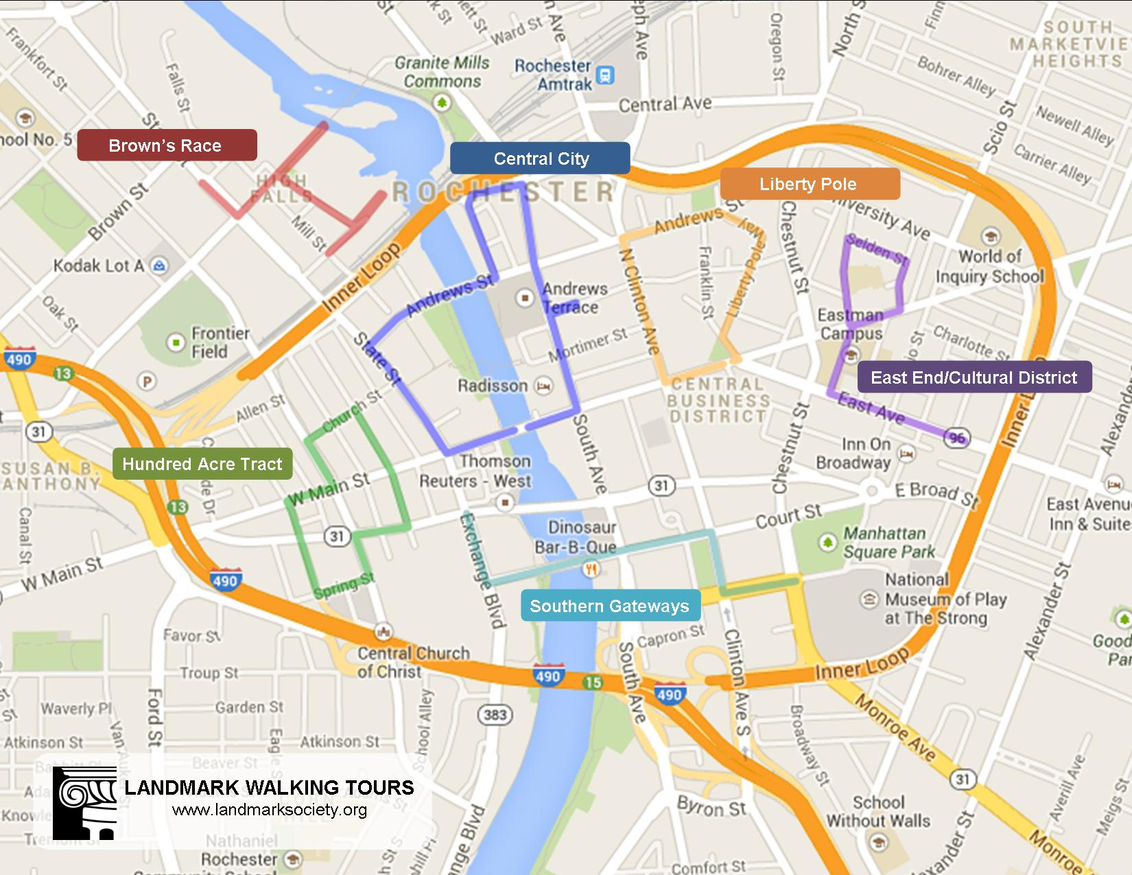 Map Downtown Tours 2014