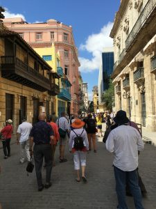 Touring the streets of Old Havana.