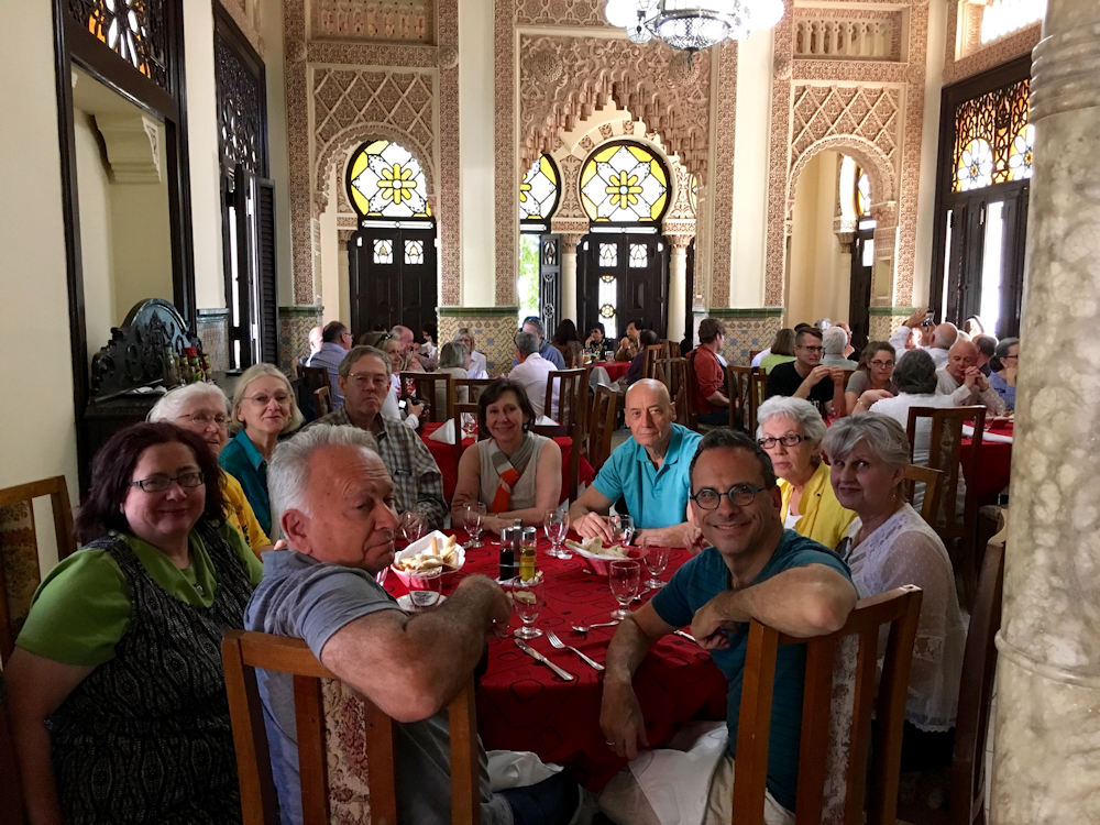 Enjoying another delicious meal in Cienfuegos.