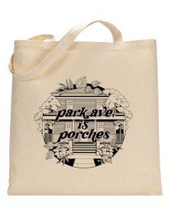 Park Ave. is Porches Canvas Tote Bag 1